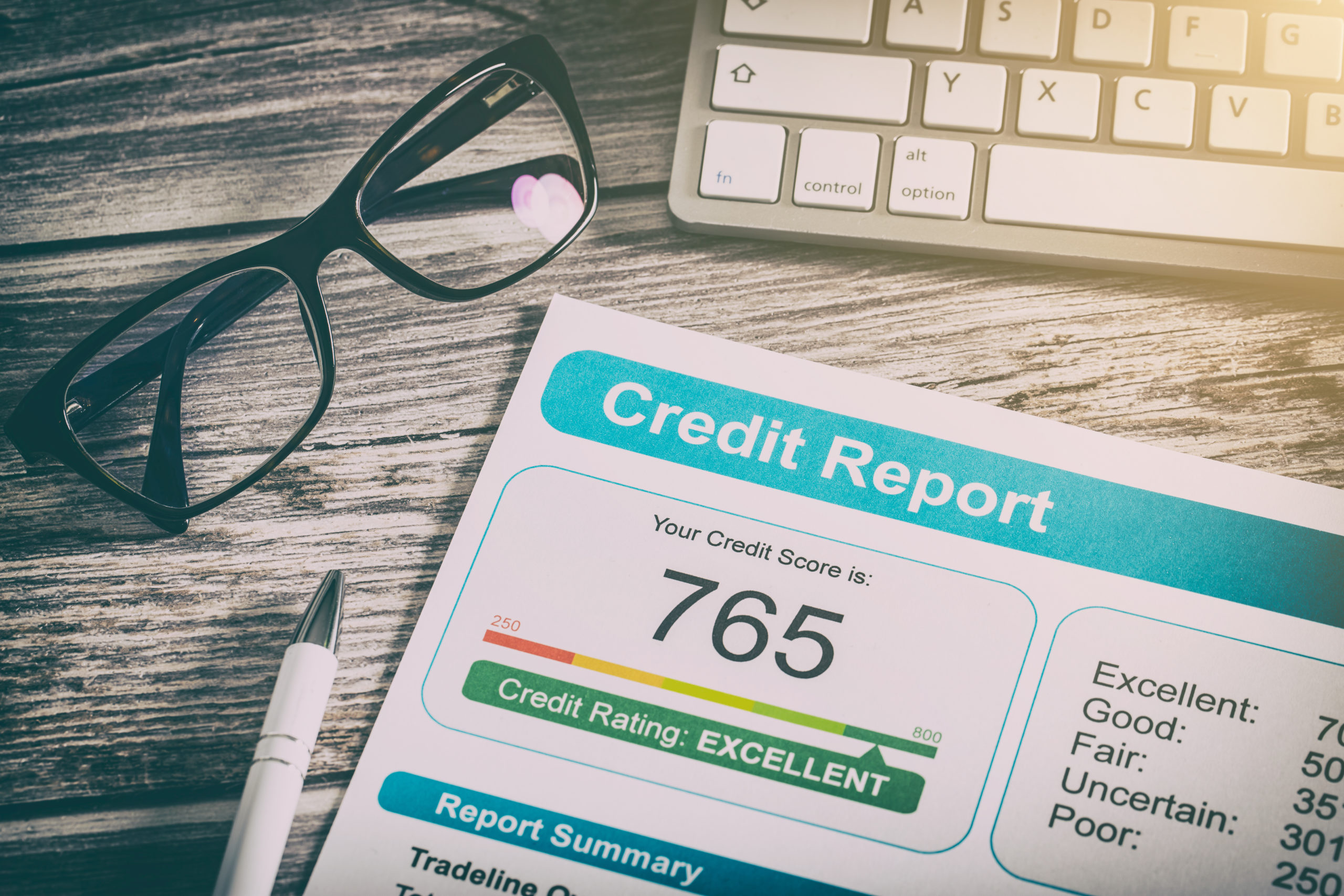 credit score on a credit report