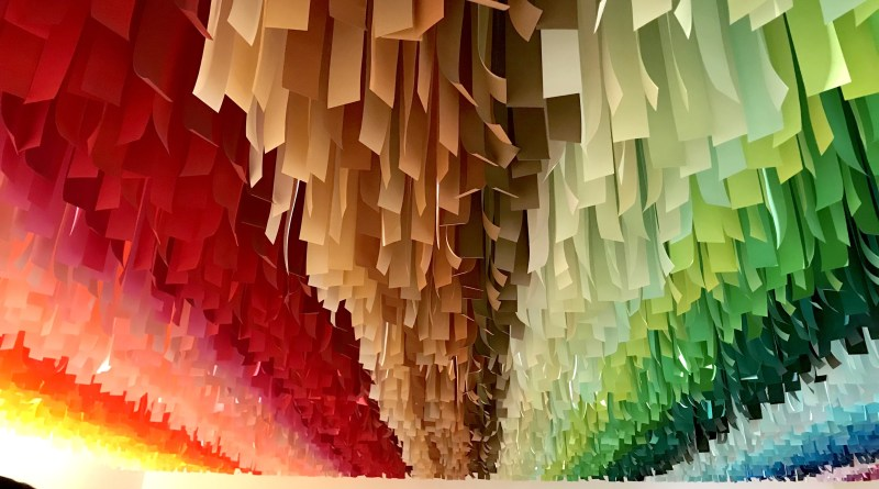 Colorful paper in the Color Factory in New York City