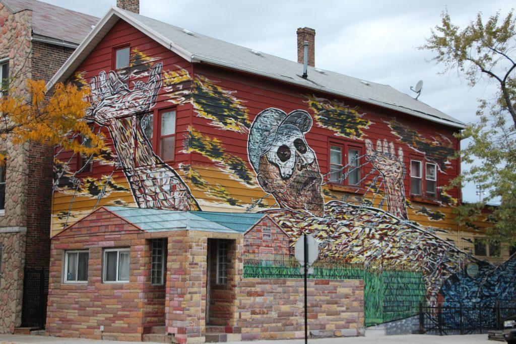 Graffiti in the Chicago neighborhood of Pilsen