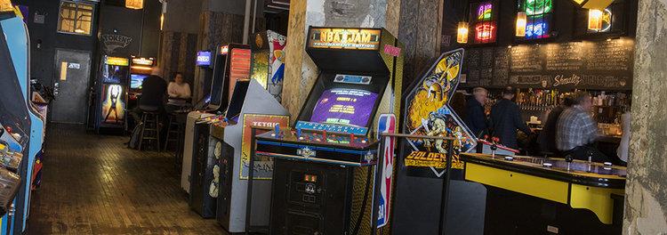 Arcade with retro games