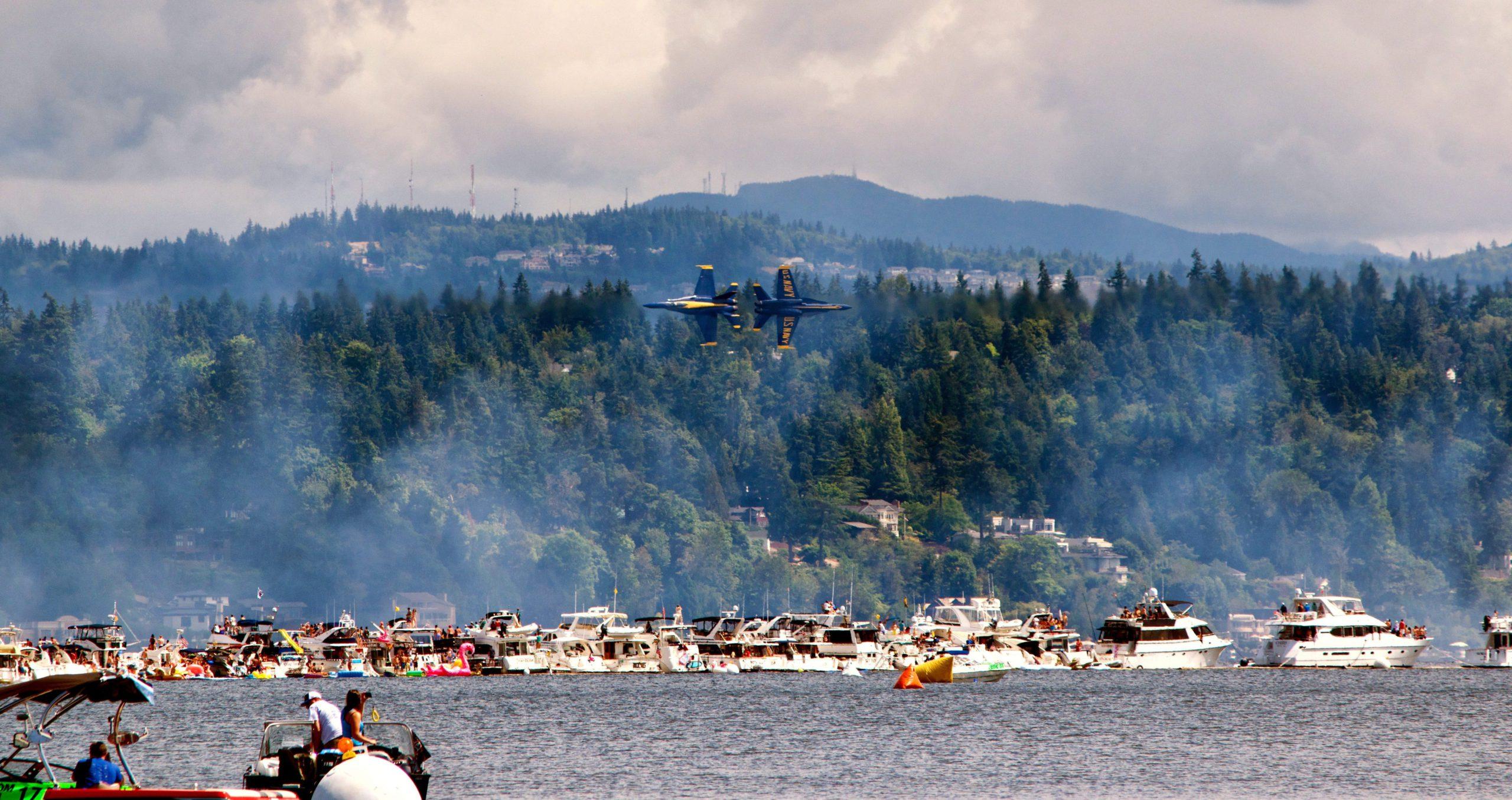 Lake Washington during an air show