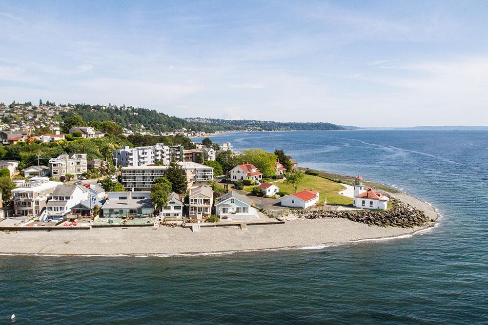 Alki Beach outside of Seattle